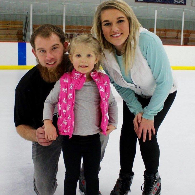 Charlie Swarzentruber, girlfriend Kayla Imhoff and his 4-year-old daughter, Payton.