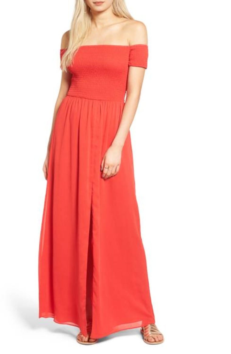 Tularosa Henderson Off the Shoulder Maxi Dress