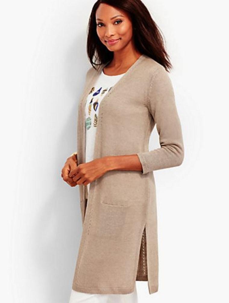 Long Linen Cardigan
