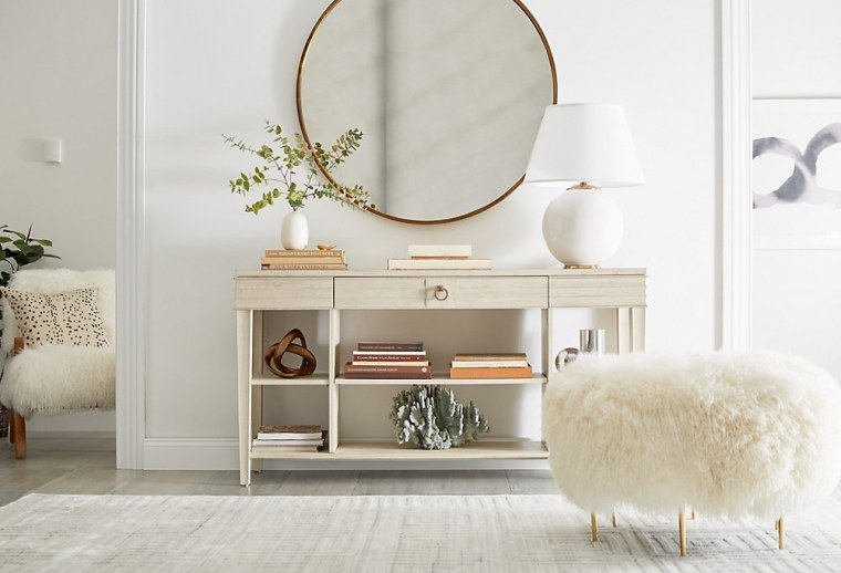 A bright and airy entryway from One Kings Lane