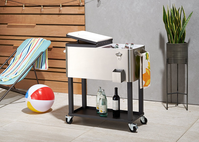 Stainless Steel cooler with shelf
