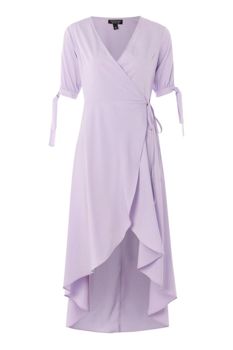 Tie Sleeve Wrap Dress