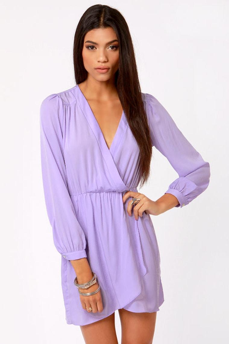 Lavender Long Sleeve Dress