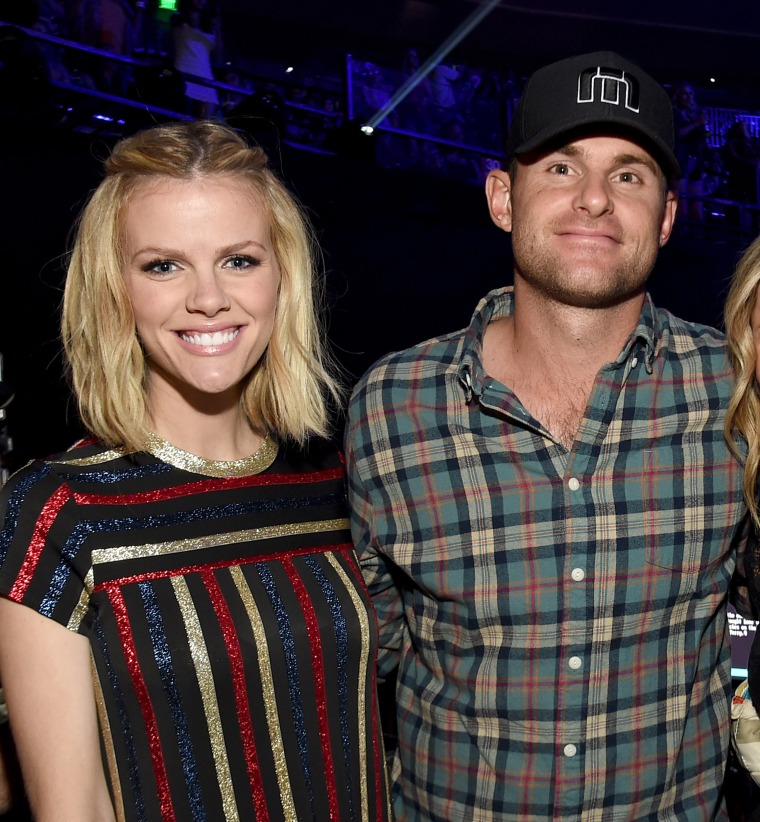 Brooklyn Decker, Andy Roddick at 2015 iHeartRadio Country Festival - Backstage