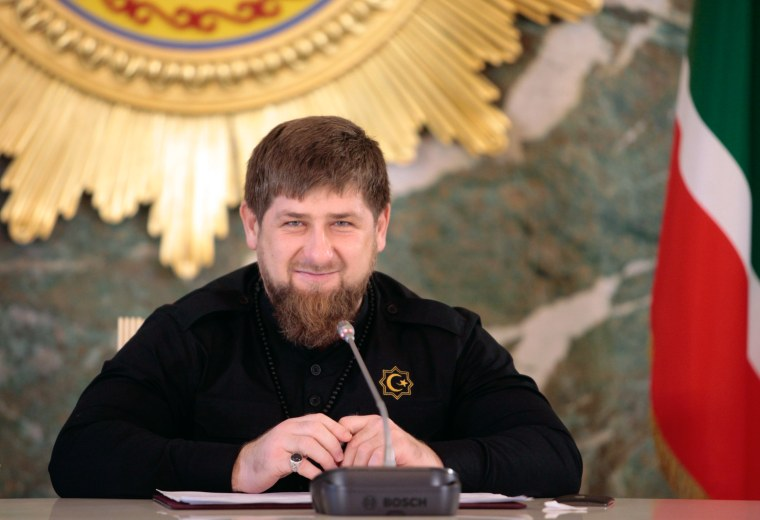 Image: Chechen regional leader Ramzan Kadyrov