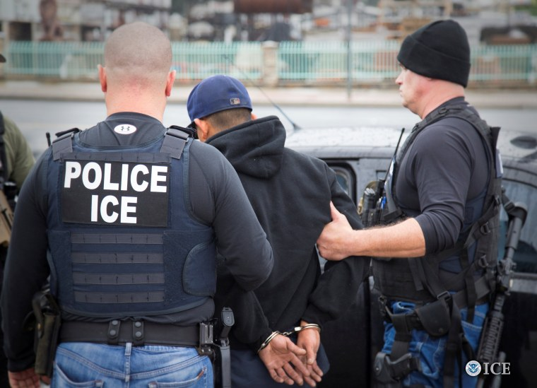 Image: ICE Officers Detain A Suspect As They Conduct A Targeted Enforcement  Operation In Los