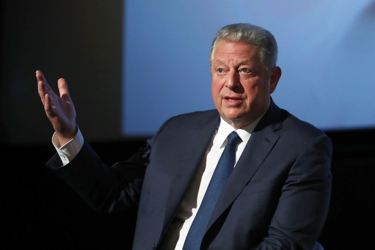 "Image: Al Gore speaks during a Q&A following a special screening of ""An Inconvenient Sequel: Truth to Power"" at Event Cinemas Bondi Junction on July 10, 2017 in Sydney, Australia."