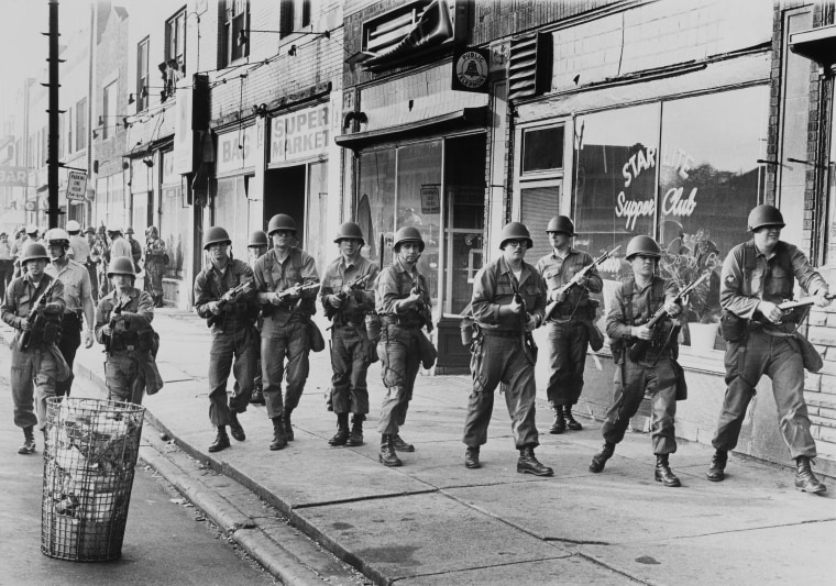 Racial Riots At Detroit In Usa On August 1967