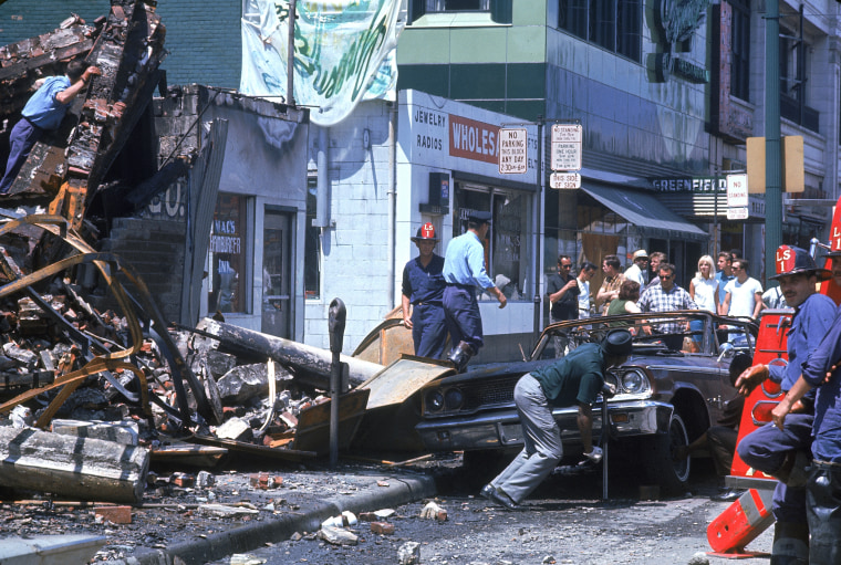 Wreckage During Detroit Riots