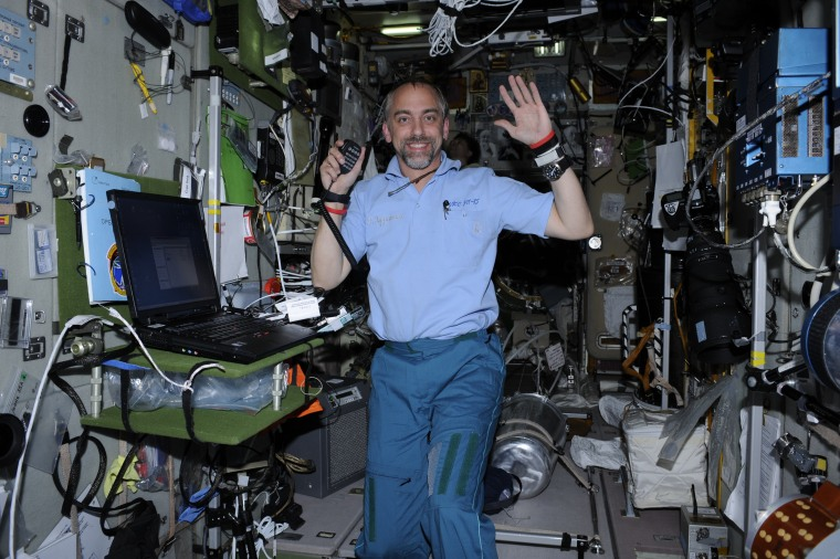 Richard Garriott aboard the International Space Station.