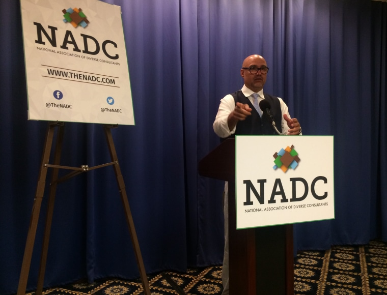 Chuck Rocha, president of Solidarity Strategies political consulting firm, launches National Association of Diverse Consultants at the National Press Club, July 18, 2017.