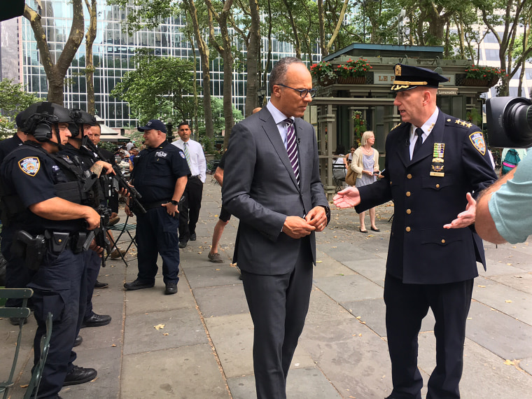 Image: Lester Holt talks to Chief James Waters, NYPD counterterrorism