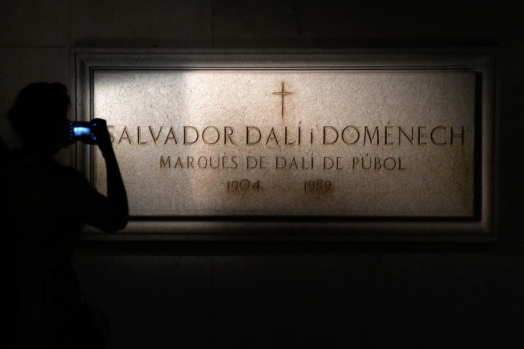 Image: Salvador Dali's tombstone