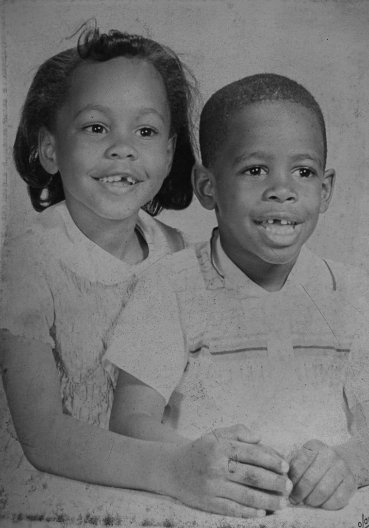 Leland Melvin at age 4 and his sister Cathy