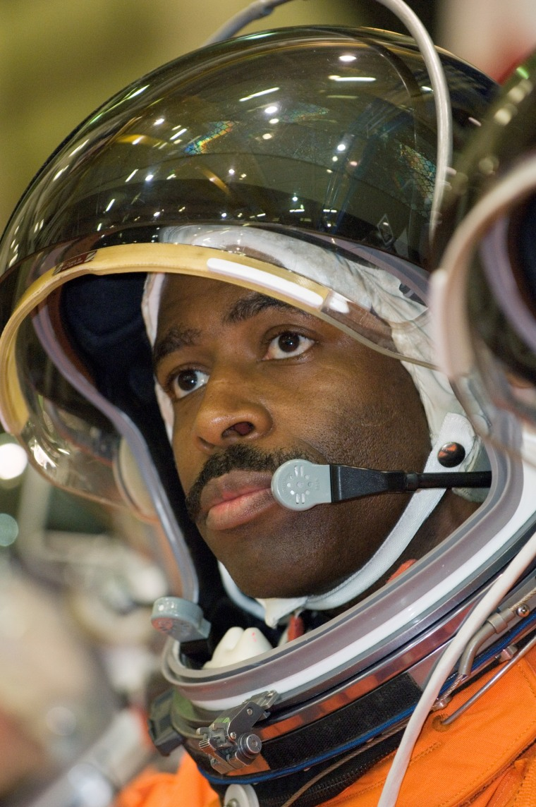 Melvin during training at Johnson Space Center in Houston.