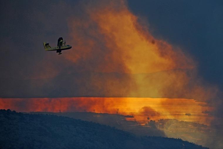 Image: Croatia wildfire around Split
