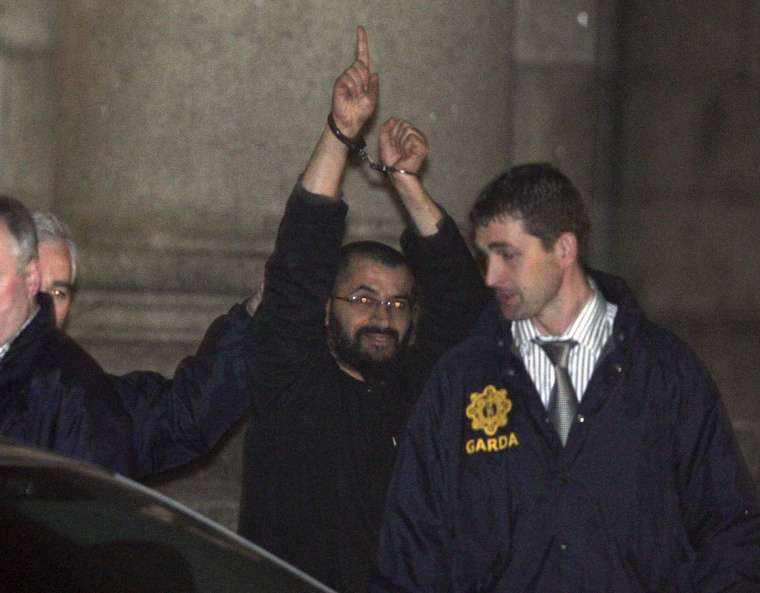 Image: Ali Charaf Damache being taken into custody