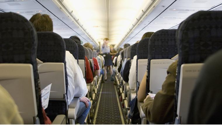Crowded plane.