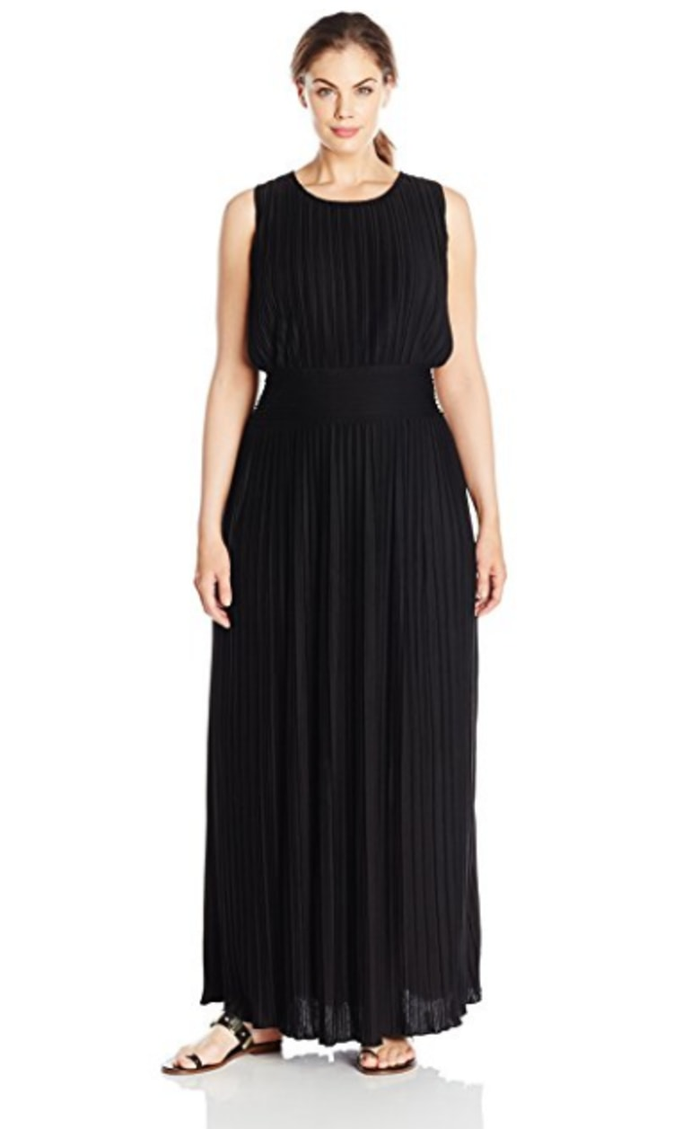 Calvin Klein Women's Plus-Size Pleated Maxi Dress