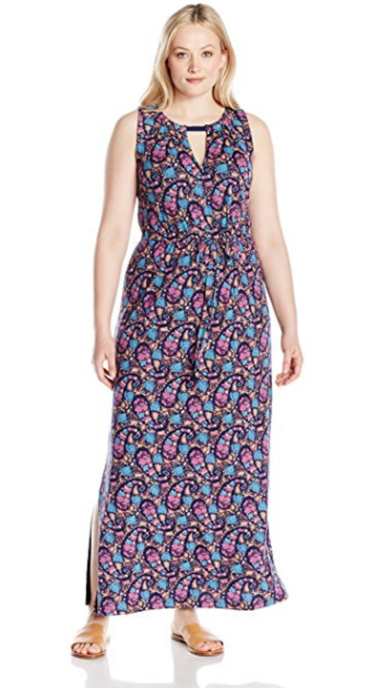 Lucky Brand Women's Plus Size Floral Print Long Dress