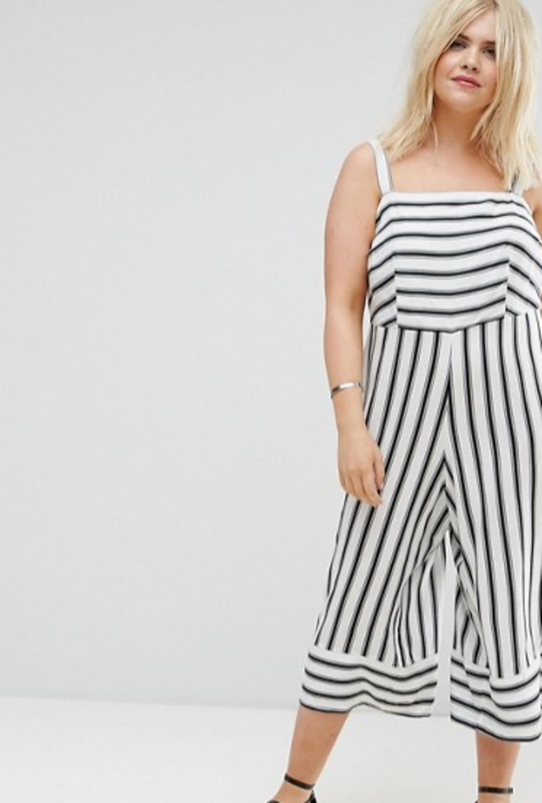 New Look Plus Stripe Jumpsuit
