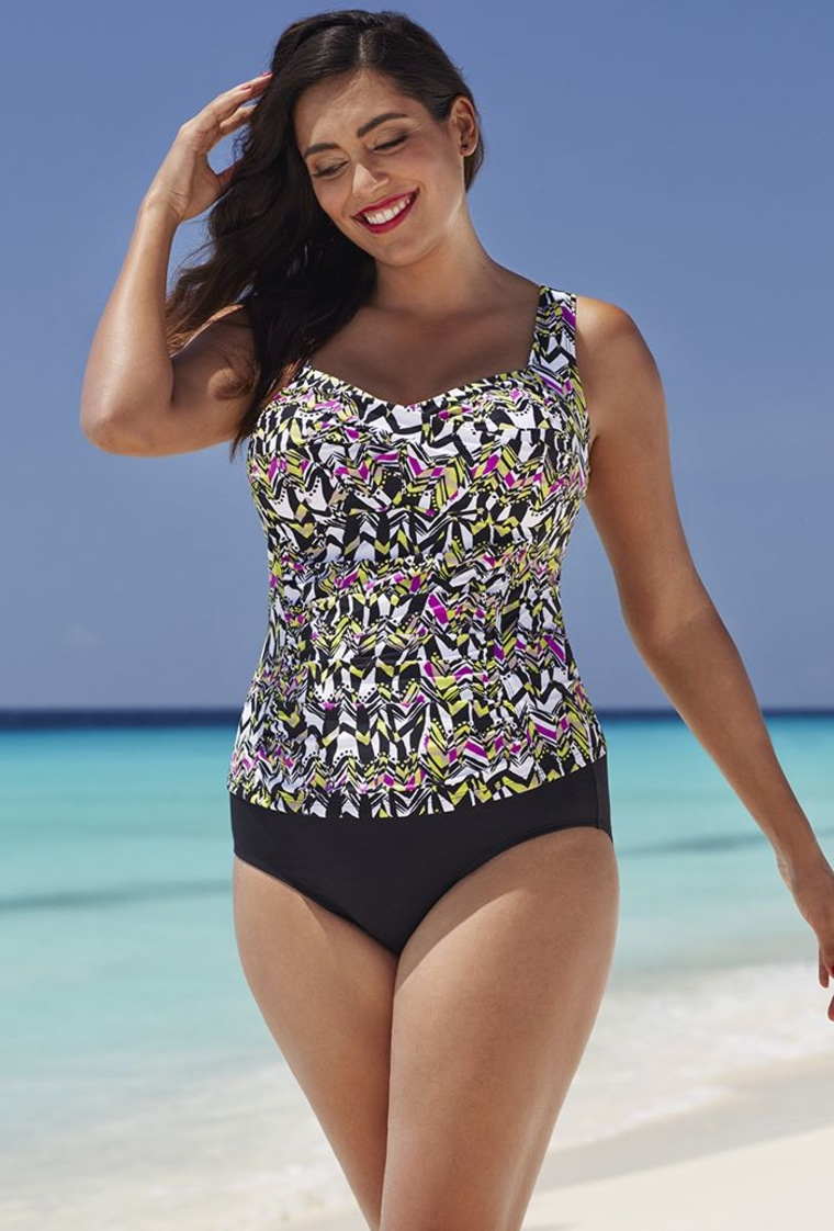 Honeydew Twist-Front Tankini