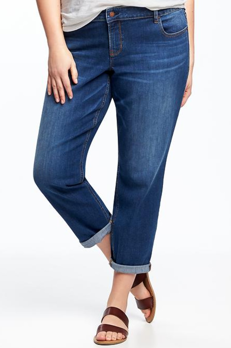 Eco-Friendly Boyfriend Skinny Plus-Size Jeans