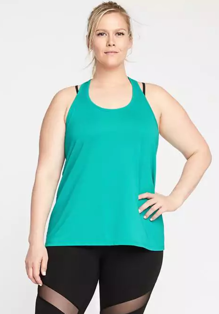 Loose-Fit Go-Dry Plus-Size Mesh Tank