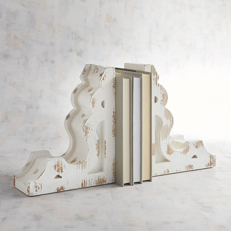 Wooden Bookend Set