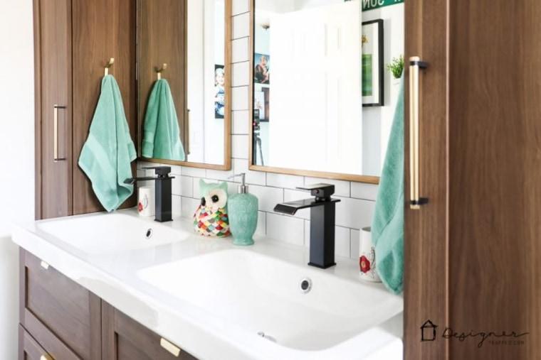 Budget Bathroom Remodel With Subway Tiles - $5000 bathroom remodel