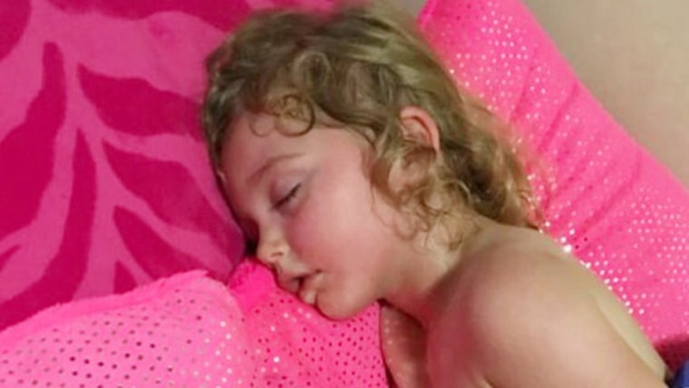 When Jennifer Abma found daughter, Anastasia, 3, like this, she couldn't wake her.  Paramedics treated her but Abma shared her story to raise awareness for other parents.
