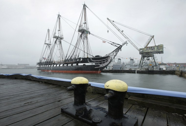 Image: The USS Constitution, also known as Old Ironsides, is docked at the Charlestown Navy Yard