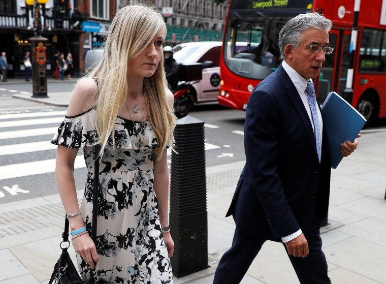 Image: Charlie Gard's mother Connie Yates and her lawyer arrive at the High Court for a hearing on her son's end of life care, in London