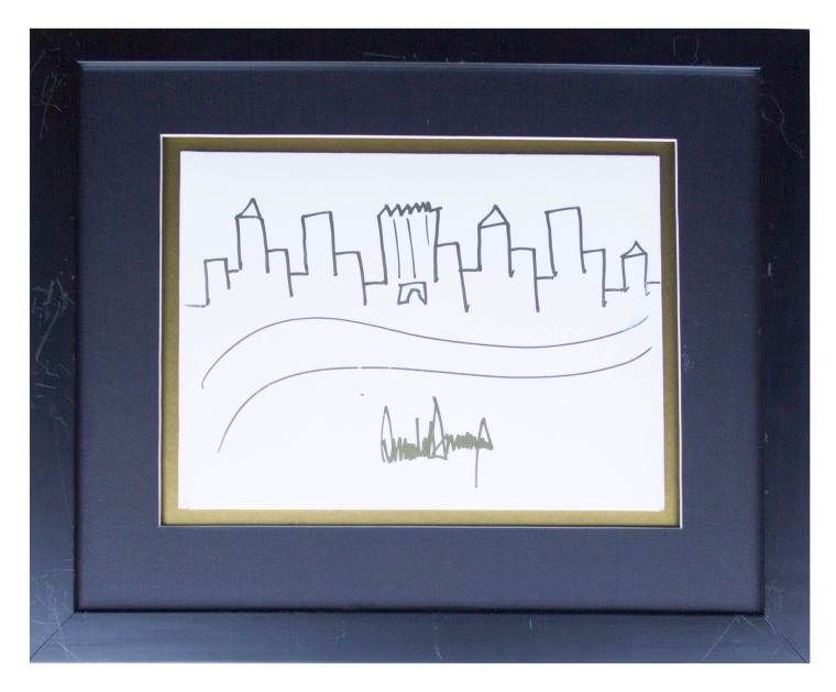 Image: Drawing of New York City skyline by Donald Trump