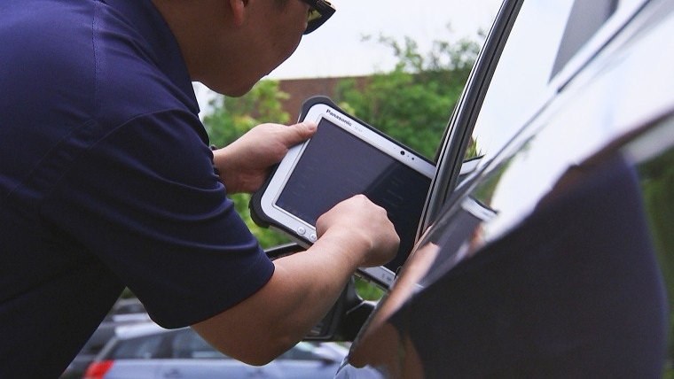 "Image: The \""Textalyzer\"" device"