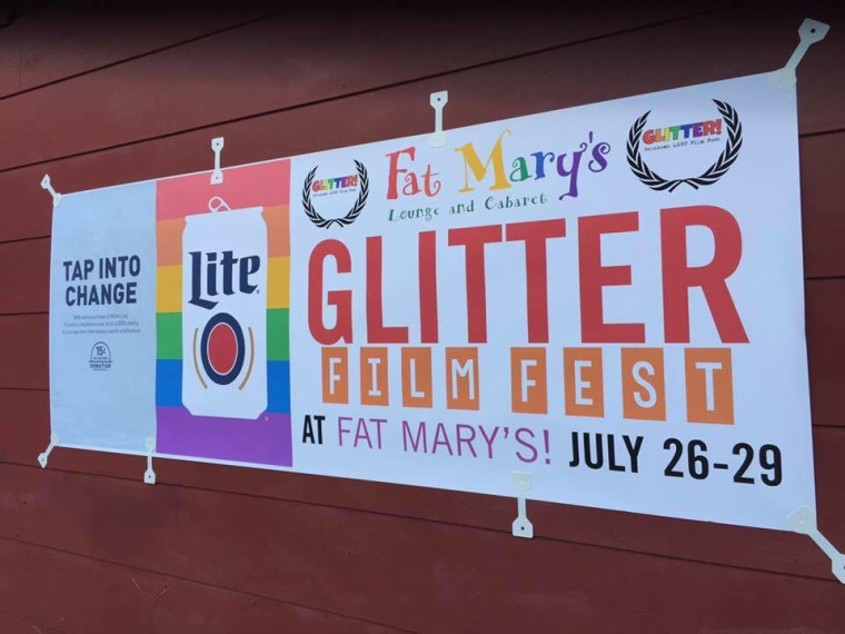 A poster for the new Glitter! LGBTQ film festival