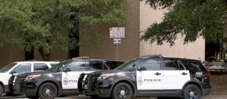 Image: Austin police vehicles investigated for carbon monoxide poisoning, July 28, 2017.