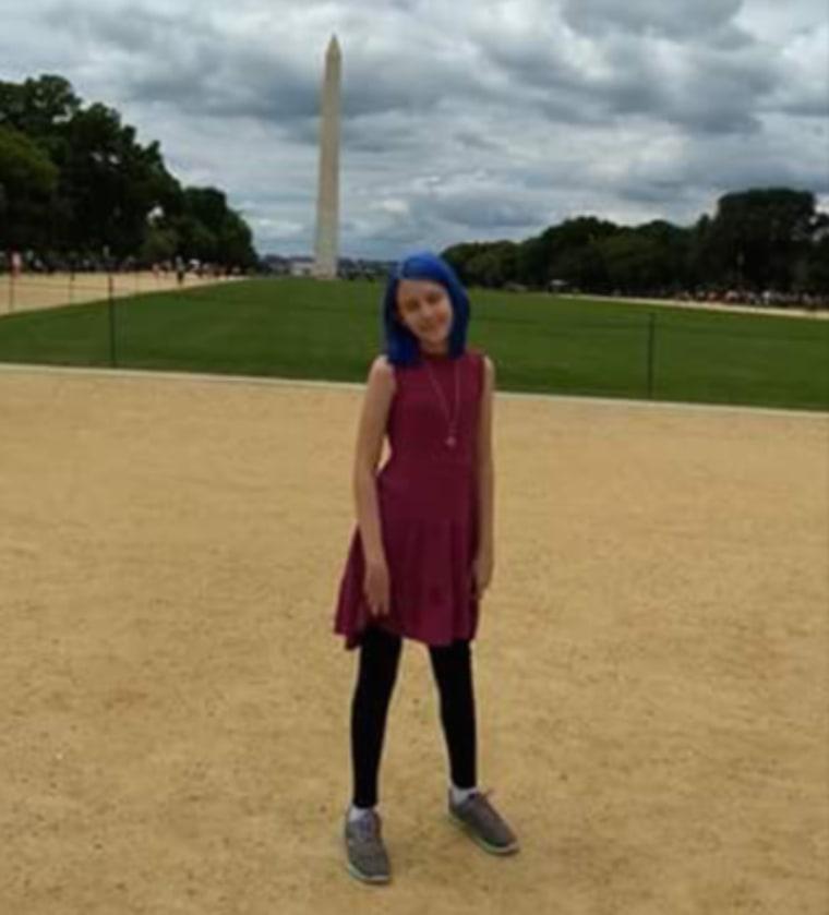 Blue Girven, 11, is a transgender advocate.