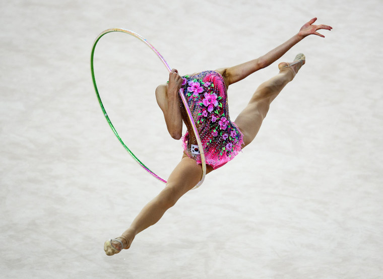 Image: Chaewoon Kim of South Korea competes during the Rhythmic Gymnastics Women's Individual Hoop Qualification of The World Games