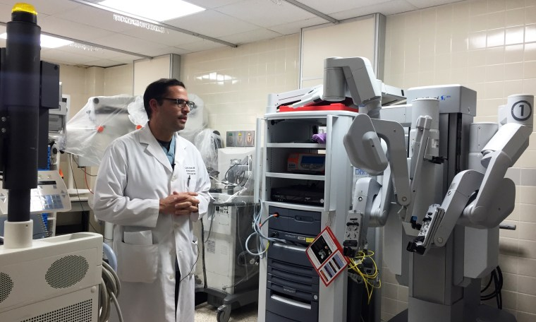 Luis Flores, a gynecology surgeon and the director of robotics at Bella Vista Hospital in Puerto Rico.