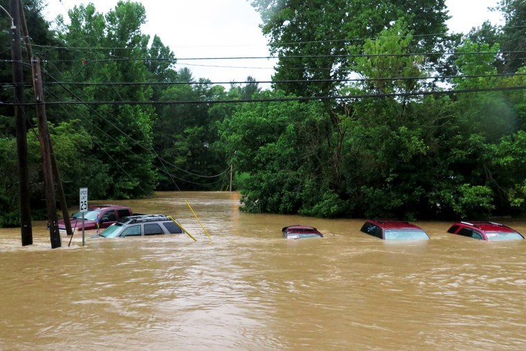 Image: Flooding in  Mannington, West Virginia, July 29, 2017.