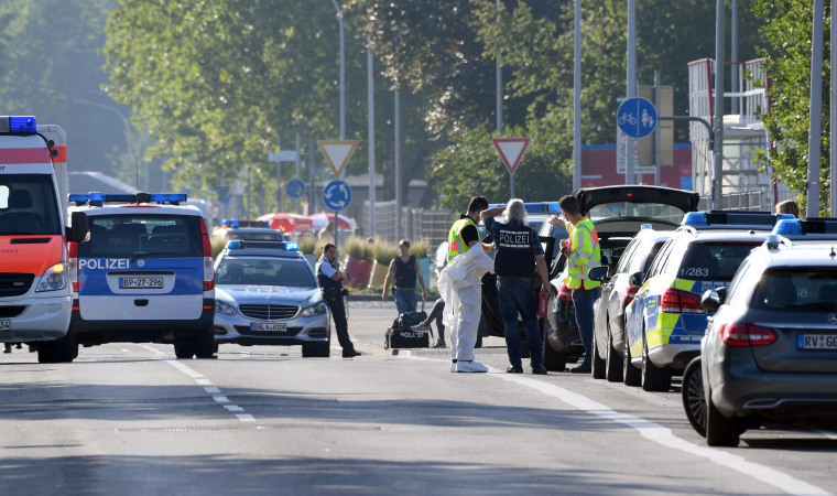 Image: Police near Club Grey in the southern German town of Konstanz.