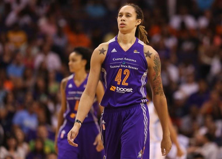 Image: FILE: WNBA Suspend Griner and Johnson Seven Games After Domestic Violence Arrest WNBA All-Star Game 2014