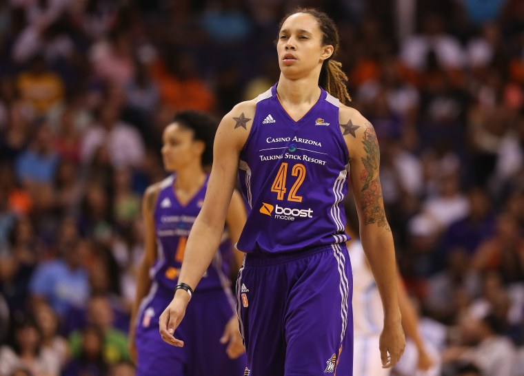 Image: FILE: WNBA Suspend Griner and Johnson Seven Games After Domestic Violence Arrest WNBA All-Star Game 2014