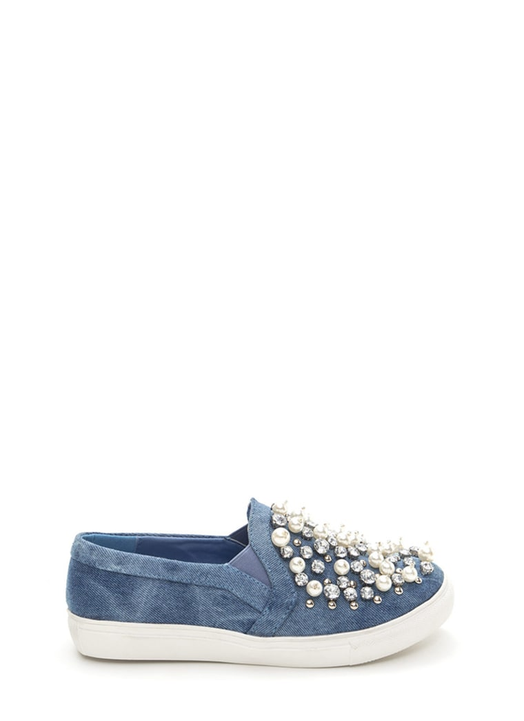 Pearl Denim Slip-on Sneakers