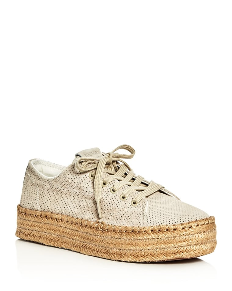 Patterned Espadrille with Rubber Sole