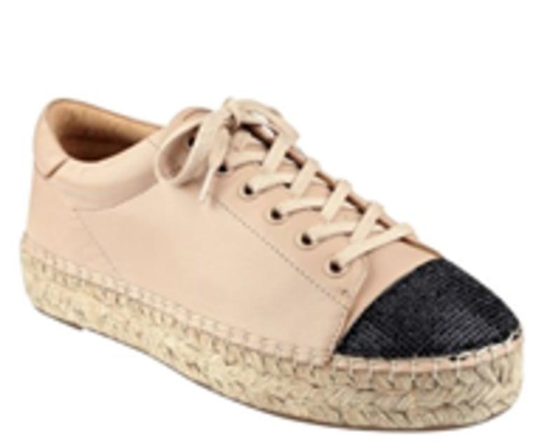 KENDALL + KYLIE Joslyn Leather Cap Toe Espadrille Sneaker