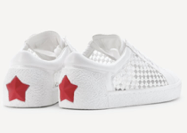 Star Patch Mesh Design Lace Up Sneaker