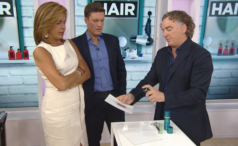 Hair styling segment, with hair stylist Rodney Cutler.