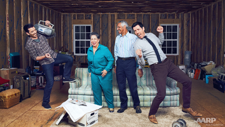 AARP is featuring the Property brothers in their August-September magazine